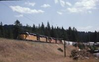 UPRR UNION PACIFIC Railroad Locomotives Train BLAIRSDEN CA Original Photo Slide