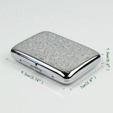 Metal Stainless steel cigarette case holder box flower design floral print,CC05