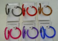 Wholesale Jewelry lot 12  pairs Beautiful Color Fashion Hoop Earrings -a