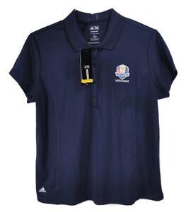 NWT Medinah CC 2012 Ryder Cup Adidas Climalite Womens Navy Polo SZ XL