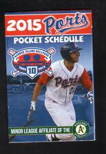 Matt Olson--Stockton Ports--2015 Pocket Schedule--Jackson Rancheria--Athletics