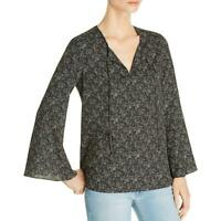 Le Gali Womens Jani Printed Bell Sleeves Office Wear Blouse Top BHFO 2339