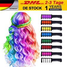 8 Farben Haar Kreide Kamm Tempor...