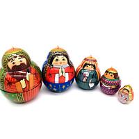 Nesting Nativity - 2001 Club Edition Ornament Hallmark Keepsake NEW Christmas