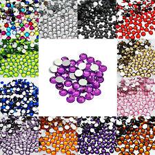 1000 Crystal Flat Back Acrylic Rhinestones Gems Diamond Wedding Party Table Purple 1
