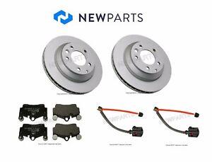 For Audi Q7 VW Touareg Rear OEM Brake Rotors w/ Ate Pads & Pex Sensors KIT