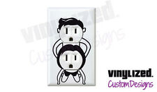 Adult 2 Plug Outlet Cover Plate Decal humor Funny Dorm College Gag Gift Party