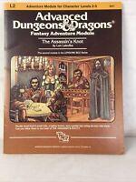 Advanced Dungeons & Dragons D&D AD&D The Assassins Knot 9057 Module L2 w/ Map