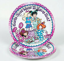 SLUMBER PARTY Sleepover Girls Just Having Fun Lunch Dinner Paper Plates Pk of 8