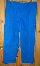 American Clipper Rainwear Vintage Blue PVC Coated Nylon Pants, Mens XXL
