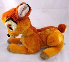 """Disney Store BAMBI Deer lying Plush 12"""" Nose to Bottom"""
