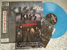 "Kiss  ""Revenge"" Blue Marbled Vinyl  LP Mercury 848037-1 w/Promo Advertisements"