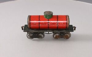 Ives 66 Vintage O Standard Oil Tank Car -  Red w/Green Dome