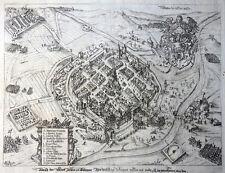 BÖHMEN PILSEN TSCHECHEI KUPFERSTICH GEORG KELLER KUPFERSTICH ANSICHT WAPPEN 1619