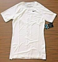 NIKE Men's Dri-FIT  COMPRESSION Training Tee 703094 White NEW  S, M, L, XL & 2XL