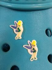 2 charmes tinkerbell chaussure pour Crocs & jibbitz Bracelets. frais d'expédition gratuits R-U