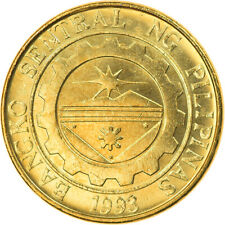 [#793608] Coin, Philippines, 25 Sentimos, 2004, MS(63), Brass plated steel