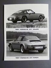 "1987 Porsche 911 Carrera Coupe & 911 Targa B&W Press Photo ""Werkfoto"" RARE! L@@K"