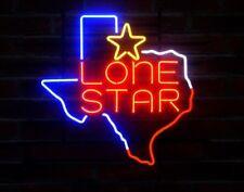 "New Texas Lone Star Logo Bar Neon Light Sign 20""x16"""