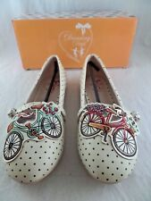 NIB Dancing Days by Banned Bicycle For Two Polka Dot Flat Shoes Sz US 6 UK 4