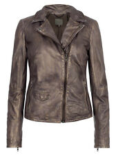 Muubaa Lyme Copper leather rider biker jacket. RRP £349. UK 8. M0388