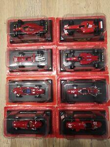 Lot de 8 Ferrari F1 1/43