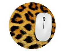 LEOPARD Cute Round Mouse Pad Mice Mat For Laptop Notebook Computer PC Gaming