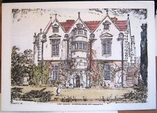 England Hardy Country Waterston Manor near Dorchester by G R Haybittle - unposte