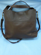 Boden Genuine Pebbled Leather Brown Large Hobo Slouchy Bag Handbag Crossbody