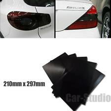 5x Dark Black Mini A4 Paper Size Taillight Tint Vinyl Film Overlay Sheet Sticker