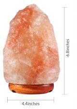 Himalayan Salt Lamp Natural Shape (6-7 Inch) with Stylish Wood Base, 25 watt