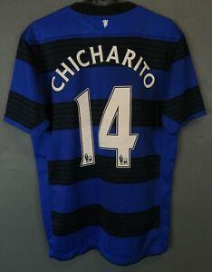 CHICHARITO MEN'S MANCHESTER UNITED 2012/2013 SOCCER FOOTBALL SHIRT JERSEY SIZE M
