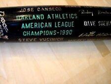 1990 Athletics A's World Series AL Champions Bat McGwire,Canseco,etc -Exc./Mint