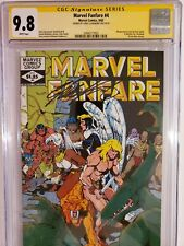 MARVEL FANFARE #4 (CGC 9.8) 1982 SIGNED by CHRIS CLAREMONT! PAUL SMITH COVER ART