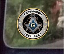 "ProSticker 093 (One) 4""  Masonic Freemason 2B1 ASK1 Decal Sticker Lodge"
