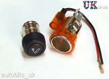 Orange cigarette lighter plug & socket pour ford fiesta focus mondeo escort