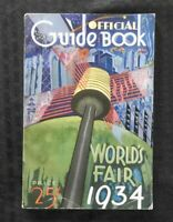 """1934 CHICAGO WORLD'S FAIR """"Official Guide Book"""" Extremely Nice Shape"""