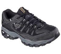 Skechers Black Shoes Men's Memory Foam Leather Mesh Comfort Casual Sneaker 50125