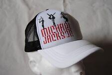 MICHAEL JACKSON DANCER WHITE TRUCKER BASEBALL CAP NEW OFFICIAL RARE BAD THRILLER