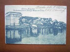 Libau Liepaja - Zerstörte Festungswerke , Feldost 1916, Marine-Schiffspost !