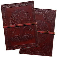 "10"" Tree of Life Real Leather Handmade Journal Sketchbook Diary 2nd's Quality"