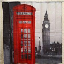Creative London Big Ben Pattern Shower Curtain Polyester Waterproof Bathroom