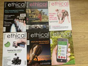 Ethical Consumer Magazines x 6 . Jan 2016 To Dec 2016.