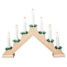 The Benross Christmas Decoration Workshop Pine Wooden Candle Bridge Light
