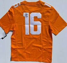 Peyton Manning Signed Tennessee Volunteers Football Jersey Colts Auto Psa/Dna