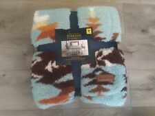 New listing Pendleton~ Avra Valley Teal~Twin Sherpa Blanket*Brand New*W/Tags