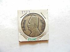 1929 Egyptian Twenty (20) Piastres Silver King Fuad Coin