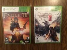 Fable III & Dungeon Siege III (3) (Microsoft Xbox 360, 2010) - New and Sealed!