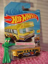 Hot Wheels Alto #329 ✰ Amarillo Oro Bus ; Llamas ✰ Hw Metro ✰ 2018i Ww Funda P /