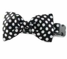 Ebony Dot Bow Tie Dog Collar